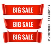 sale banner set. realistic red... | Shutterstock .eps vector #551680441