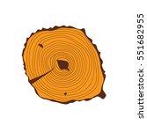 tree wood slices vector.   Shutterstock .eps vector #551682955