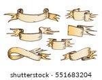 ribbons vector banner ribboned... | Shutterstock .eps vector #551683204