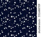Stock vector seamless pattern with star in dark sky 551688709