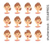 set of emotional character.... | Shutterstock .eps vector #551689831