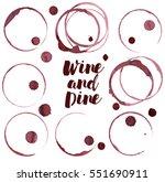 wine spots  vector | Shutterstock .eps vector #551690911