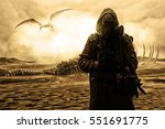 nuclear post apocalypse. life...   Shutterstock . vector #551691775