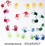 Colorful Hand Palm Finger...