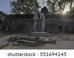 preah khan  part of khmer...   Shutterstock . vector #551694145