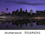 Angkor Wat Temple With Stars...