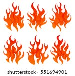six fire icon | Shutterstock .eps vector #551694901