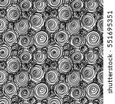 vector seamless doodle swirl... | Shutterstock .eps vector #551695351