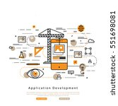 application development flat... | Shutterstock .eps vector #551698081