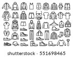 set of man clothes icons  thin... | Shutterstock .eps vector #551698465