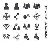 social icon  vector icon | Shutterstock .eps vector #551698981