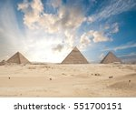 pyramids in giza  | Shutterstock . vector #551700151