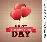 valentines day flyer. vector... | Shutterstock .eps vector #551700889