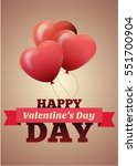 valentines day flyer. vector... | Shutterstock .eps vector #551700904