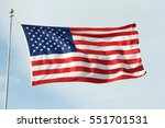 American Flag Waving  Blowing...