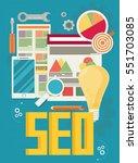 flat vector illustration of web ... | Shutterstock .eps vector #551703085