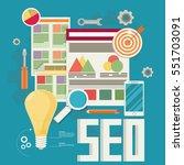 flat vector illustration of web ... | Shutterstock .eps vector #551703091