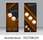 roll up banner stand template.... | Shutterstock .eps vector #551708125