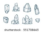 set of hand drawn vector... | Shutterstock .eps vector #551708665