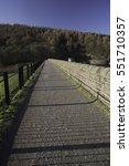 ladybower resovoir in uk with...   Shutterstock . vector #551710357