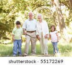 grandparents in park with... | Shutterstock . vector #55172269