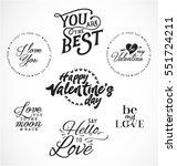 valentine's day typography... | Shutterstock .eps vector #551724211
