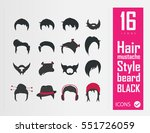 hair beard hat icons | Shutterstock .eps vector #551726059