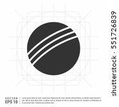 cricket ball flat linear long... | Shutterstock .eps vector #551726839