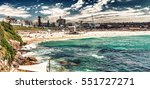 bondi beach in sydney on a... | Shutterstock . vector #551727271