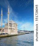 ortakoy mosque and bosphorus... | Shutterstock . vector #551728045
