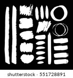set of hand drawn paint object... | Shutterstock .eps vector #551728891