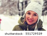 portrait of a girl in the winter | Shutterstock . vector #551729539