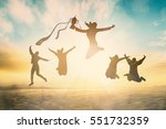 silhouette of international... | Shutterstock . vector #551732359