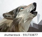 wolf  low poly | Shutterstock .eps vector #551733877