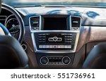car interior luxury. beige...   Shutterstock . vector #551736961