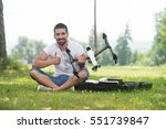 portrait of confident young... | Shutterstock . vector #551739847
