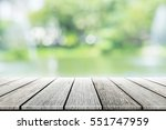 empty wooden table with party...   Shutterstock . vector #551747959