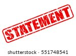 statement red stamp text on... | Shutterstock .eps vector #551748541