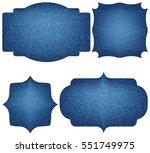 vintage label set with denim... | Shutterstock .eps vector #551749975
