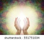 prana healing energy field  ... | Shutterstock . vector #551751034