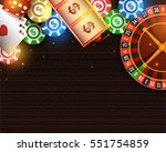 casino background with roulette ... | Shutterstock .eps vector #551754859