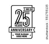 25th anniversary logo. vector... | Shutterstock .eps vector #551755135