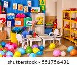 kindergarten interior... | Shutterstock . vector #551756431