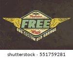 motorcycle. typography t shirt... | Shutterstock .eps vector #551759281