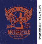 motorcycle. typography t shirt...