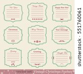 vector set of vintage christmas ... | Shutterstock .eps vector #551760061