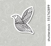boho element. zentangle... | Shutterstock .eps vector #551762899