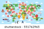 vector flat style illustration... | Shutterstock .eps vector #551762965