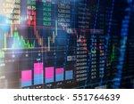 statistic graph stock market... | Shutterstock . vector #551764639