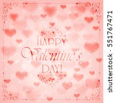 pink valentines background with ...   Shutterstock .eps vector #551767471